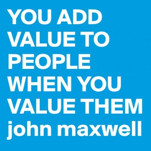 change is about showing people you value them